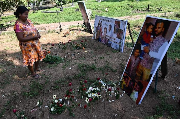 The United Nations said at least 45 children, Sri Lankans and foreigners, were among the dead (AFP Photo/Jewel SAMAD)