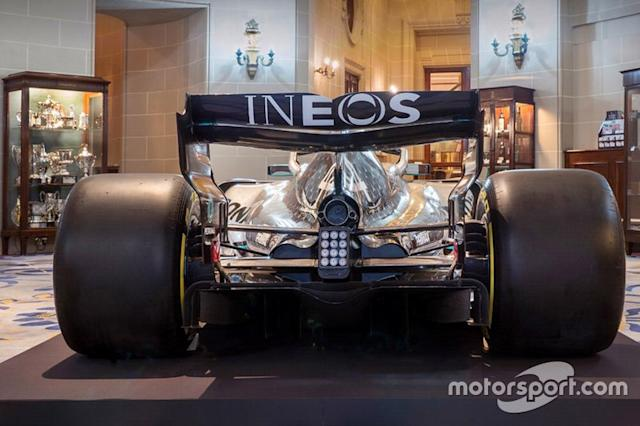 """Mercedes AMG F1 livery detail <span class=""""copyright"""">Mercedes AMG</span>"""