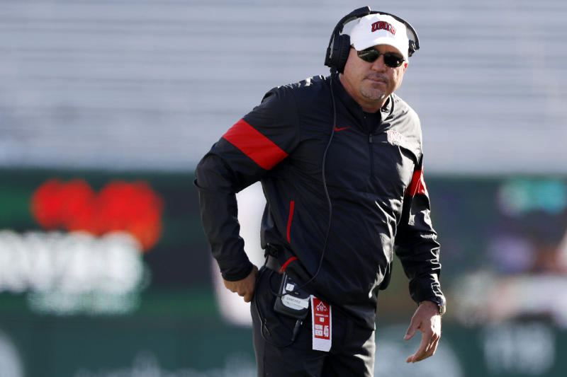 UNLV head coach Tony Sanchez had a 19-40 record in five seasons. (AP Photo/David Zalubowski)