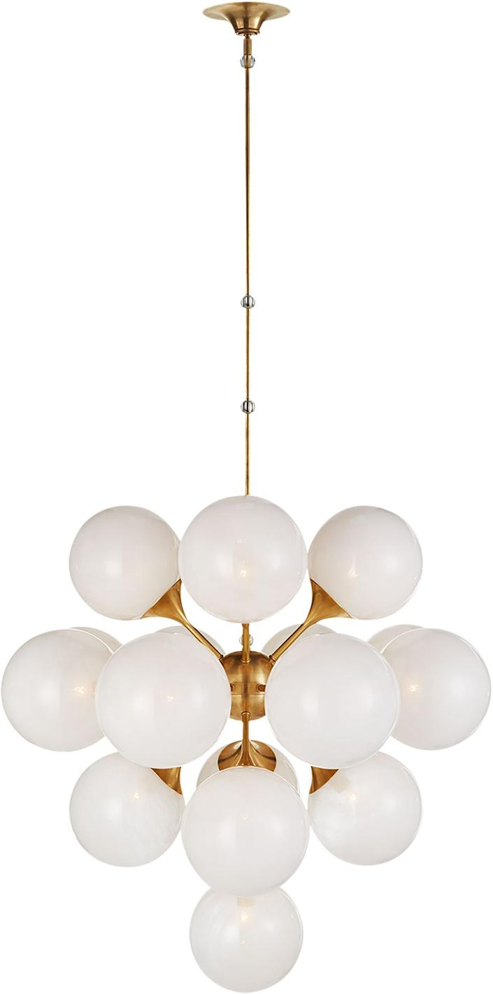 "<div class=""caption""> Cristol Large Tiered Chandelier by Aerin for Visual Comfort; $2,975. <a href=""https://www.circalighting.com"" rel=""nofollow noopener"" target=""_blank"" data-ylk=""slk:circalighting.com"" class=""link rapid-noclick-resp""><em>circalighting.com</em></a> </div> <cite class=""credit"">Courtest Circa Lighting</cite>"