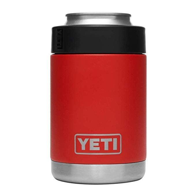 """<p>Keep beverages cool no matter what the weather is with this <span>Yeti Rambler Vacuum Insulated Stainless-Steel Colster</span> ($70). (Bonus: It has a """"no sweat"""" design, keeping your hands water-free.)</p>"""