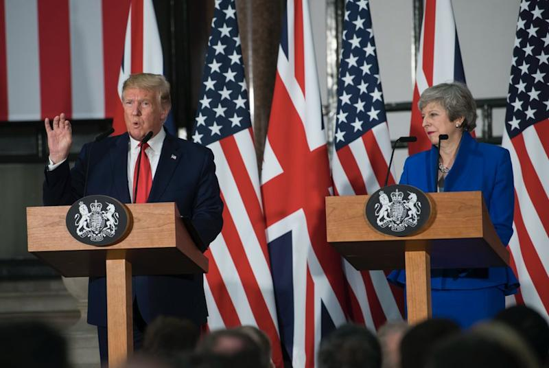 The President told reporters on Tuesday that the NHS would be part of trade deals (Getty)