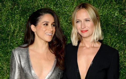Markle and Nonoo at the Vogue Fashion Fund Awards in 2015 - Credit: Getty