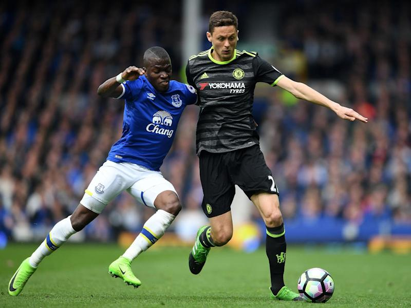 Matic in action for Chelsea against Everton's Enner Valencia (Getty)