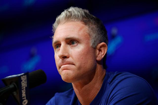 Los Angeles Dodgers infielder Chase Utley will retire after the end of the 2018 season. (AP)