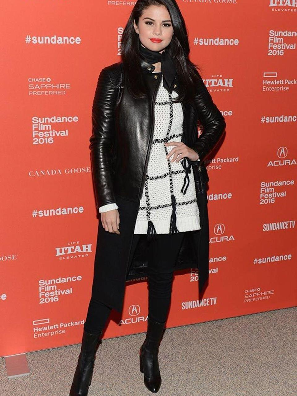 <p>Selena Gomez attends a screening of The Fundaments Of Caring during Sundance Film Festival in Utah, January 2016.</p>