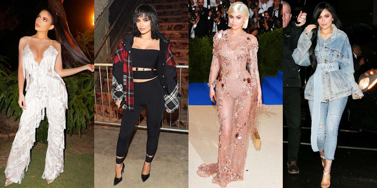 """<p>Kylie Jenner may be best known for her beauty (the <a rel=""""nofollow"""">changing hair</a> and <a rel=""""nofollow"""">full lips</a>), but her style is just as dynamic. An ongoing look at her best outfits, from the <a rel=""""nofollow"""">Kim-inspired</a> dresses to the red carpet gowns.</p>"""
