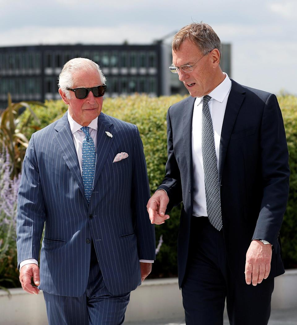 The Prince of Wales with Richard Gnodde, International chief executive of Goldman Sachs (PA Wire)