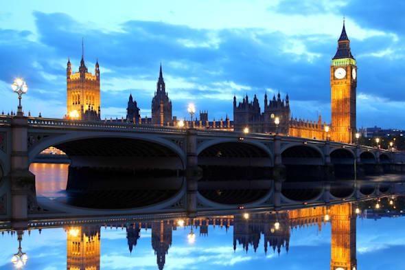 famous big ben in the evening...