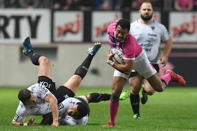 Paris' winger Waisea Nayacalevu escapes during a French Top14 rugby union match against Toulon at Jean Bouin stadium on March 26, 2017 (AFP Photo/CHRISTOPHE SIMON)