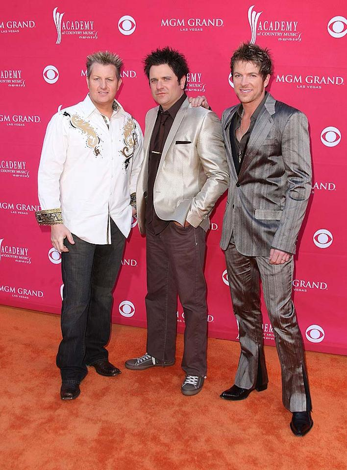 "How many bottles of hair gel do you think the boys of Rascal Flatts went through? Jason Merritt/<a href=""http://www.gettyimages.com/"" target=""new"">GettyImages.com</a> - April 5, 2009"