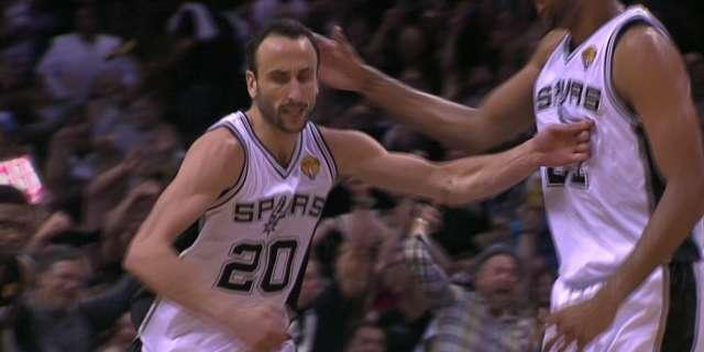 Manu Ginobili throws down massive dunk on Chris Bosh in Game 5 of the 2014 NBA Finals (Video)