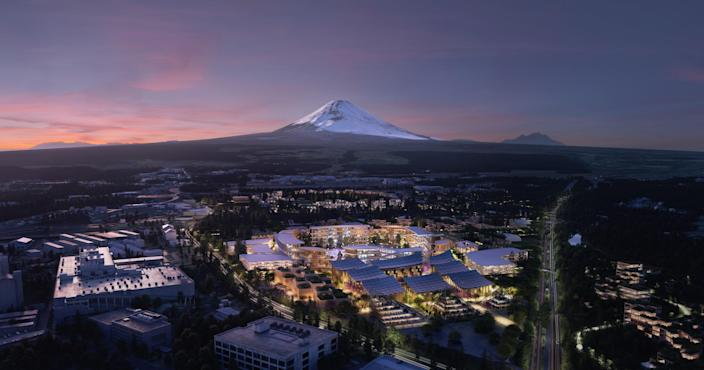 """Toyota shocked the crowds by unveiling not just a car or gizmo <a href=""""https://www.architecturaldigest.com/story/bjarke-ingels-creating-city-future-near-japan-fujiyama?mbid=synd_yahoo_rss"""" rel=""""nofollow noopener"""" target=""""_blank"""" data-ylk=""""slk:but plans for an entire city"""" class=""""link rapid-noclick-resp"""">but plans for an entire <em>city</em></a>. Called Woven City, and to be constructed on the site of a former Toyota manufacturing plant at the base of Mt. Fuji in Japan, this 2,000-person town will act as a test bed for Toyota's ventures into artificial intelligence, robotics, autonomous cars, connected devices, connected infrastructure, and battery power. We're ready to move."""
