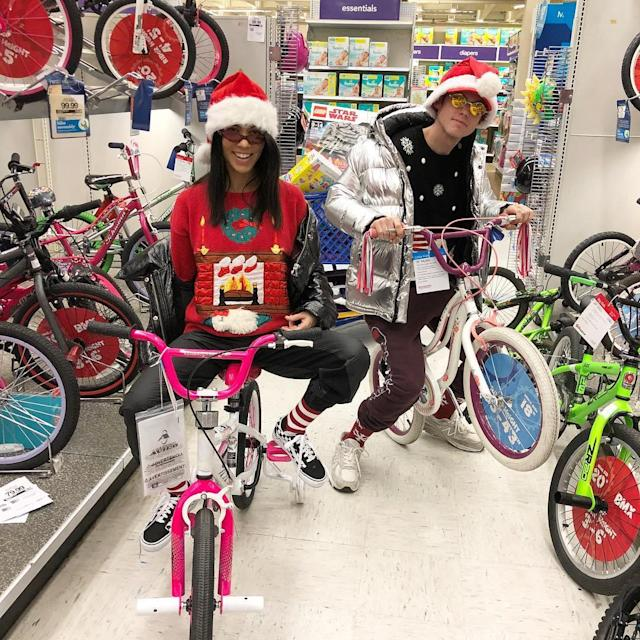 "<p>For the holidays, Kourtney isn't embarassed to act like a kid herself. Can you imagine Kim doing this? (Photo: <a href=""https://www.instagram.com/p/BdBgNXkDBXk/?hl=en&taken-by=kourtneykardash"" rel=""nofollow noopener"" target=""_blank"" data-ylk=""slk:Kourtney Kardashian via Instagram"" class=""link rapid-noclick-resp"">Kourtney Kardashian via Instagram</a>)<br><br></p>"