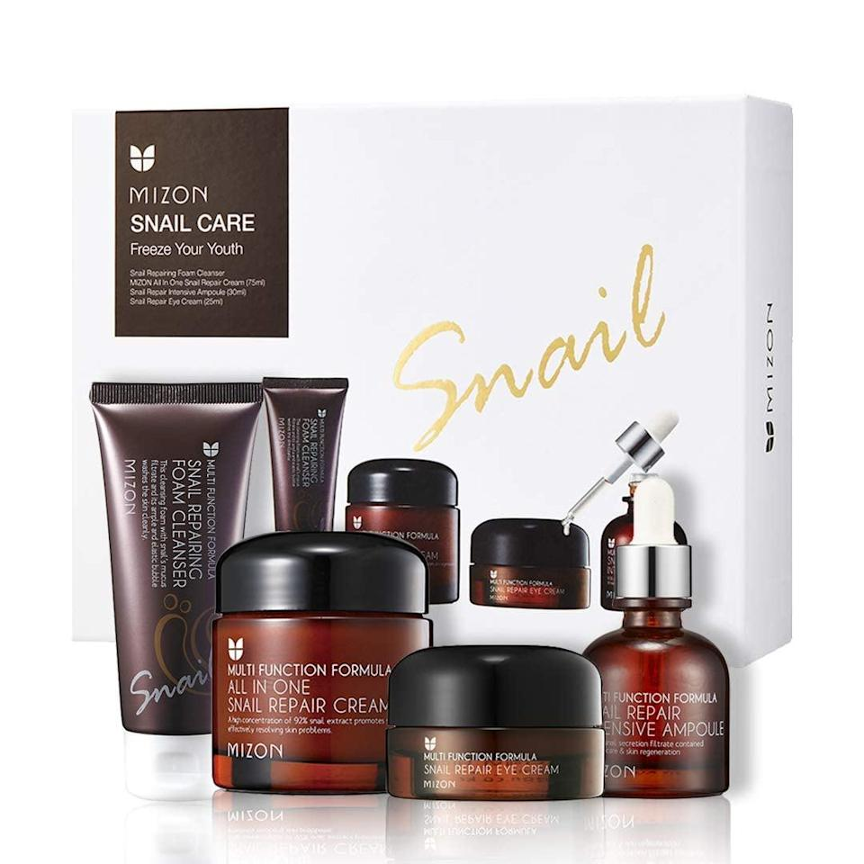 <p>The <span>MIZON Gift Set: All-in-1 Snail Care Skin Care Set</span> ($50, originally $55) will keep winter dryness at bay. </p>