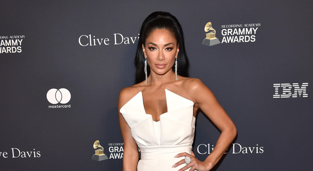 Nicole Scherzinger impressed fans with her barefoot exercise routine. (Getty Images)