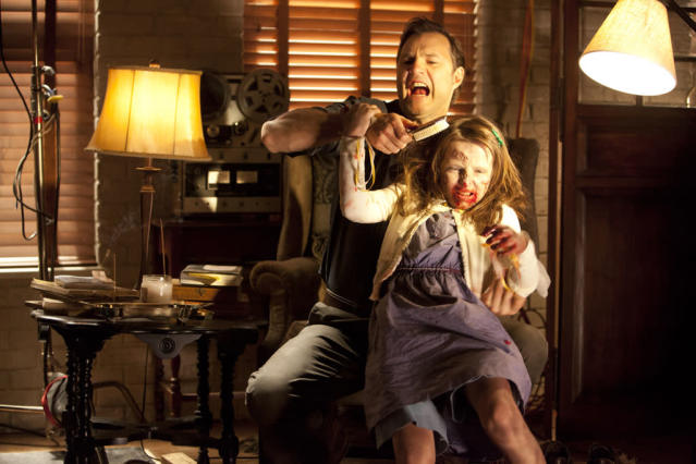 "The Governor (David Morrissey) and Penny (Kylie Szymanski) in ""The Walking Dead"" episode, ""Say the Word."""