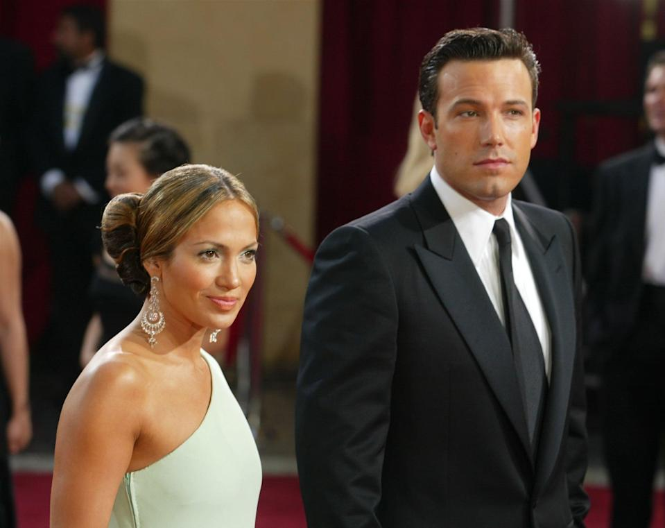"""<ul> <li><strong>On <a href=""""http://www.womenshealthmag.com/relationships/a36384939/why-did-jennifer-lopez-ben-affleck-break-up/"""" class=""""link rapid-noclick-resp"""" rel=""""nofollow noopener"""" target=""""_blank"""" data-ylk=""""slk:their breakup"""">their breakup</a>: </strong>""""I think Jen and I made a mistake in that we fell in love, we were excited and maybe too accessible. I don't think either of us anticipated the degree to which it would take on a world of its own.""""</li> <li><strong>On <a href=""""http://www.hollywoodreporter.com/movies/movie-news/awards-chatter-podcast-ben-affleck-the-way-back-4115884/"""" class=""""link rapid-noclick-resp"""" rel=""""nofollow noopener"""" target=""""_blank"""" data-ylk=""""slk:the intense tabloid scrutiny Jennifer endured"""">the intense tabloid scrutiny Jennifer endured</a> while they were together</strong>: """"You know, there's always a story of the month, and me dating <a class=""""link rapid-noclick-resp"""" href=""""https://www.popsugar.com/Jennifer-Lopez"""" rel=""""nofollow noopener"""" target=""""_blank"""" data-ylk=""""slk:Jennifer Lopez"""">Jennifer Lopez</a> happened to be that tabloid story at the time when that business grew exponentially . . . People were so f*cking mean about her - sexist, racist. Ugly, vicious sh*t was written about her in ways that if you wrote it now, you would literally be fired for saying those things you said. Now it's like, she's lionized and respected for the work she did, where she came from, what she accomplished - as well she f*cking should be! I would say you have a better shot - coming from the Bronx - of ending up as like [Justice Sonia] Sotomayor on the Supreme Court than you do of having Jennifer Lopez's career and being who she is at 50 years old today.""""</li> <li><strong>On <a href=""""http://www.cosmopolitan.com/entertainment/celebs/a31068638/ben-affleck-keeps-in-touch-jennifer-lopez/"""" class=""""link rapid-noclick-resp"""" rel=""""nofollow noopener"""" target=""""_blank"""" data-ylk=""""slk:staying in touch with Jennifer"""">staying in touch with Jennifer</a></strong>: """"She's the re"""
