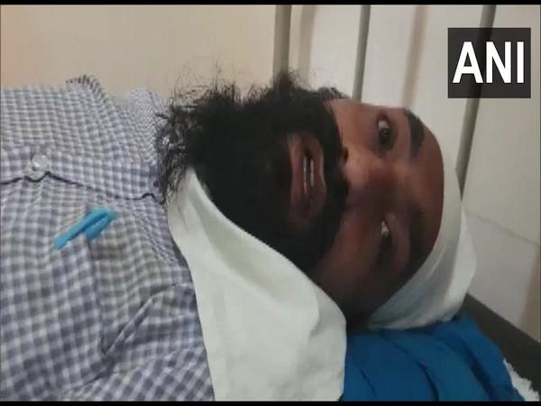 A case of assault was reported with a health department employee, Mastan Singh, who had gone to motivate people to get the corona test done in Ludhiana. [Photo/ANI]