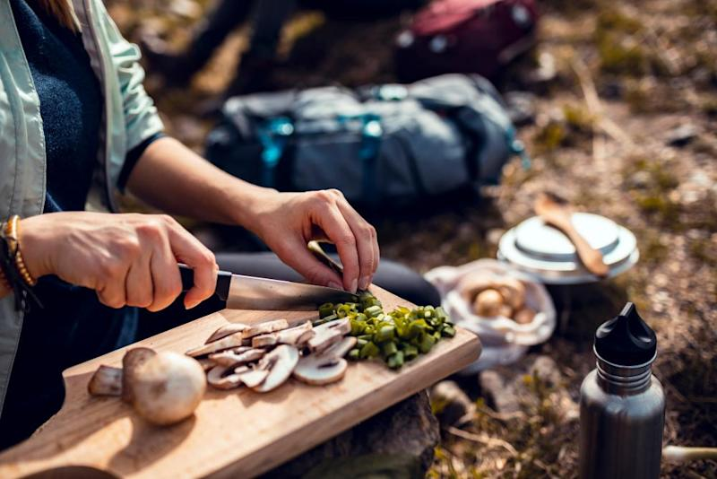 One-pot dishes such as stir-fry are easy enough to rustle up outdoors