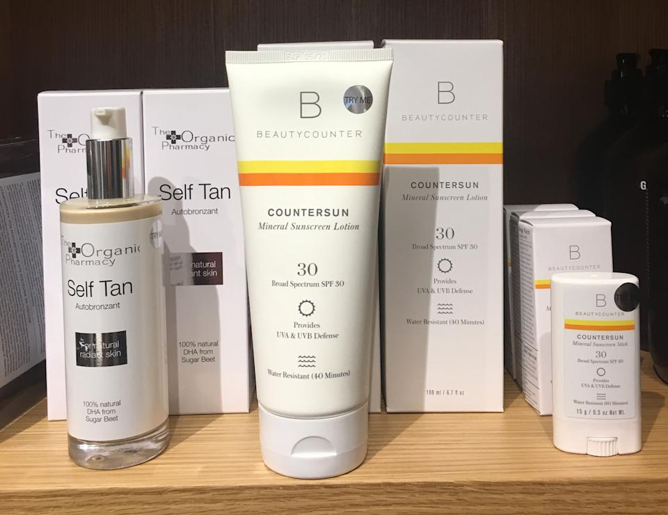 Beautycounter products at Goop's Toronto popup (Photo by Alyssa Tria)