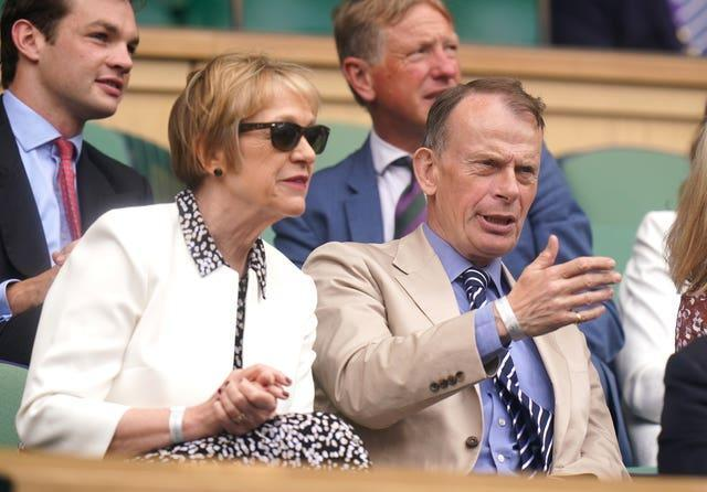 Journalist and presenter Andrew Marr and his wife Jackie Ashley