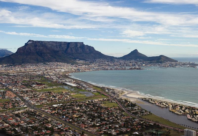 The Tygerberg Nature Reserve where the plane crashed is located 25 kilometres (15 miles) east of Cape Town (pictured)