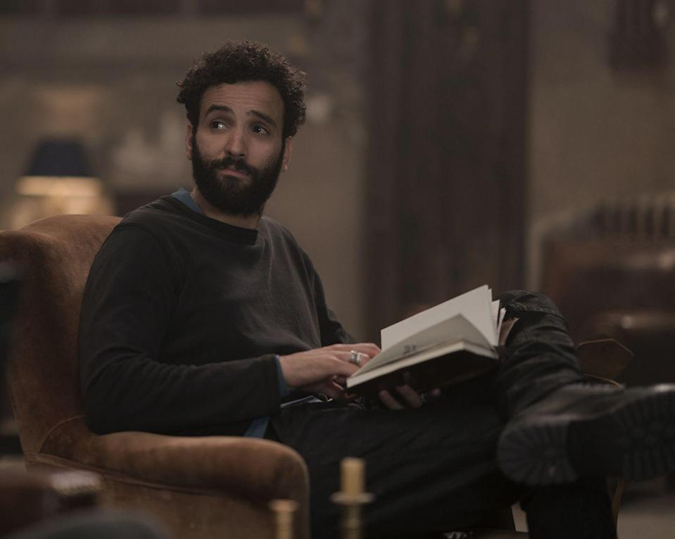 <p>Recognize Kenzari? The Dutch actor was Jafar in the <em>Aladdin</em> remake—plus, he was also in the <em>Ben-Hur</em> and <em>Murder on the Orient Express </em>remakes as well. As Joe, he realized he couldn't die after he came up against a foe in battle during the Crusades...</p>