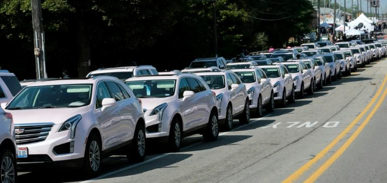 The fleet of pink Cadillacs at Aretha Franklin's funeral was a nod to the vehicle in the lyrics of her 1985 hit 'Freeway of Love,' an anthem to her Motor City hometown