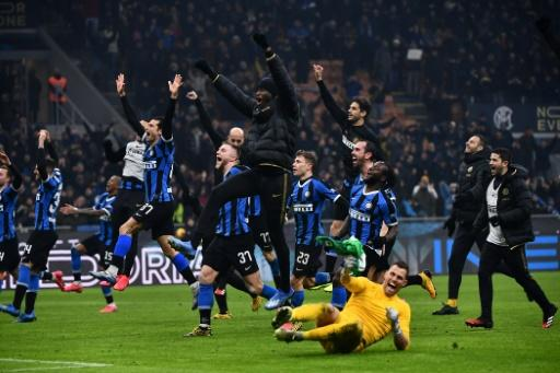 Inter Milan move top of Serie A after beating city rivals AC Milan 4-2