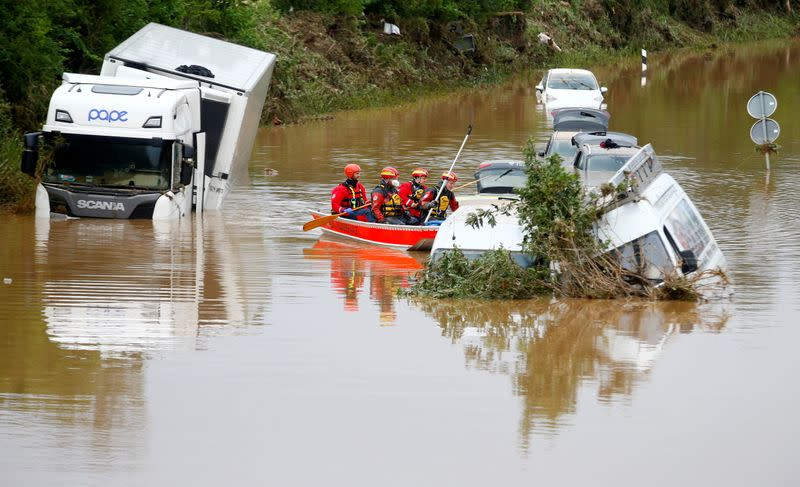 FILE PHOTO: Aftermath of heavy rainfalls in Germany