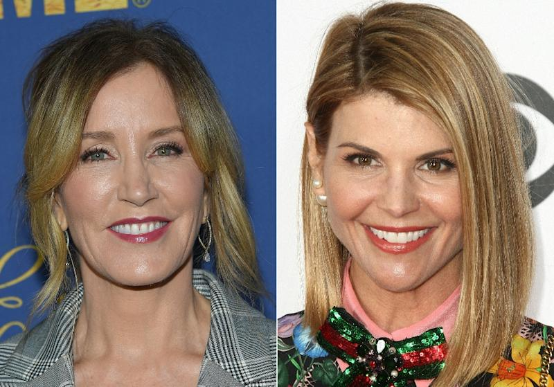 This combination of pictures shows US actress Felicity Huffman (L) in 2018 and actress Lori Loughlin in 2017 (AFP Photo/LISA O'CONNOR, Tommaso Boddi)
