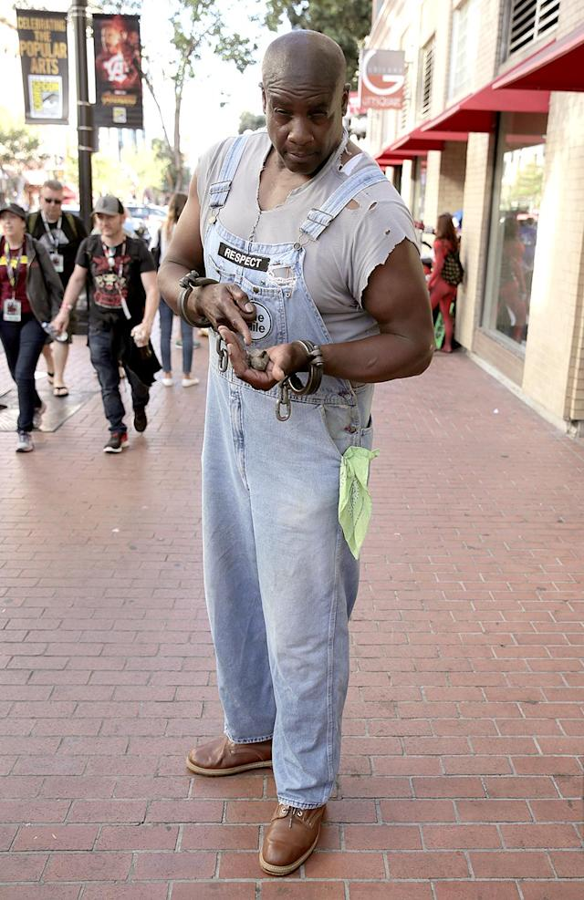 <p>Cosplayer dressed as John Coffey of <em>The Green Mile </em>at Comic-Con International on July 19, 2018, in San Diego. (Photo: Quinn P. Smith/Getty Images) </p>