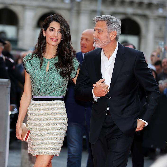 Amal and George Clooney in 2019 at 'Catch-22' Rome Premiere (Ernesto Ruscio / Getty Images)
