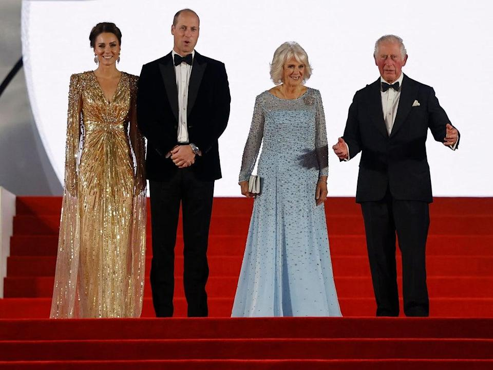 The Duchess of Cambridge, Prince William, the Duchess of Cornwall, and Prince Charles (TOLGA AKMEN/AFP via Getty Images)