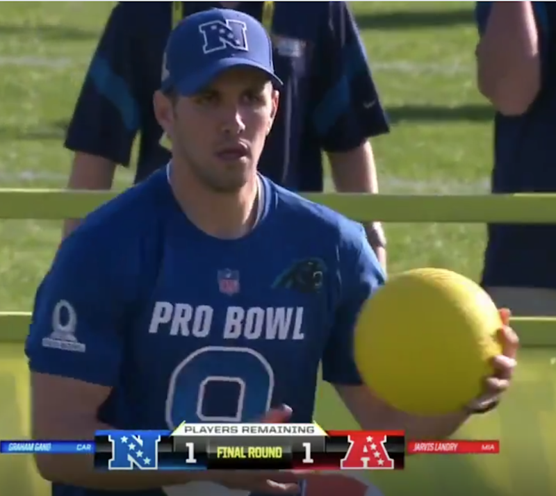 A kicker nearly won the NFL Pro Bowl dodgeball gameMore