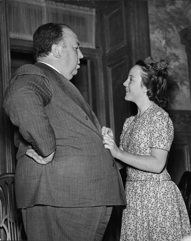 Alfred Hitchcock and his daughter