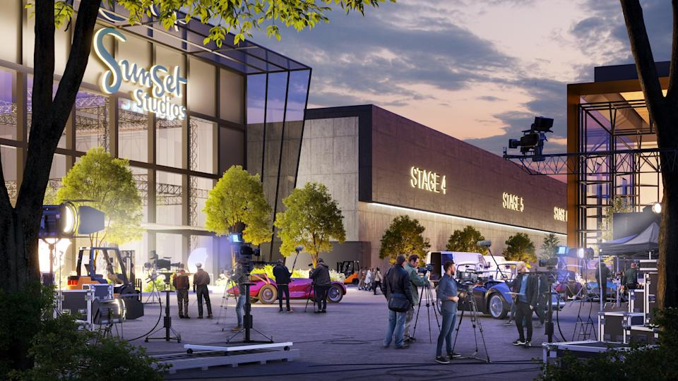 The Sunset Studios sites is set to create at least 4,500 jobs (Blackstone/PA)