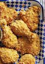 """<p>Coat chicken in cornflakes for even more crunch.</p><p><em><a href=""""https://www.countryliving.com/food-drinks/a35523525/air-fryer-fried-chicken/"""" rel=""""nofollow noopener"""" target=""""_blank"""" data-ylk=""""slk:Get the recipe from Country Living »"""" class=""""link rapid-noclick-resp"""">Get the recipe from Country Living »</a></em></p>"""