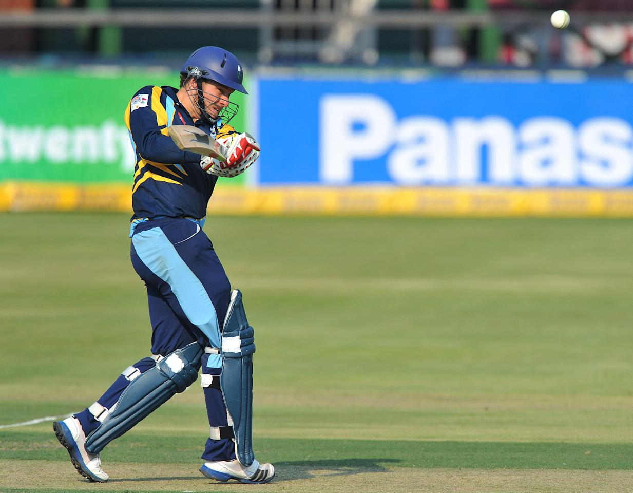 JOHANNESBURG, SOUTH AFRICA - OCTOBER 09:  David Miller of Yorkshire pulls a delivery during the Karbonn Smart CLT20 pre-tournament Qualifying Stage match between Yorkshire (England) and Uva Next (Sri Lanka) at Bidvest Wanderers Stadium on October 09, 2012 in Johannesburg, South Africa.  (Photo by Duif du Toit/Gallo Images/Getty Images)