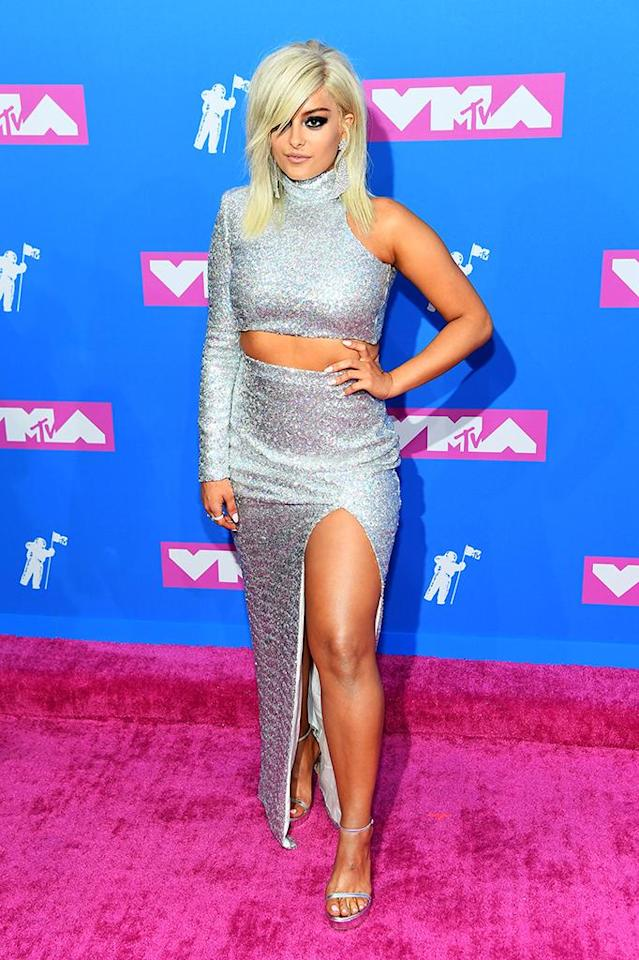 <p>Bebe Rexha attends the 2018 MTV Video Music Awards at Radio City Music Hall on August 20, 2018 in New York City. (Photo: Nicholas Hunt/Getty Images for MTV) </p>