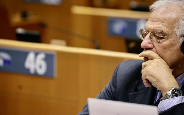 High Representative and vice-president of the European Commission Josep Borrell attends a plenary session at the EU Parliament in Brussels