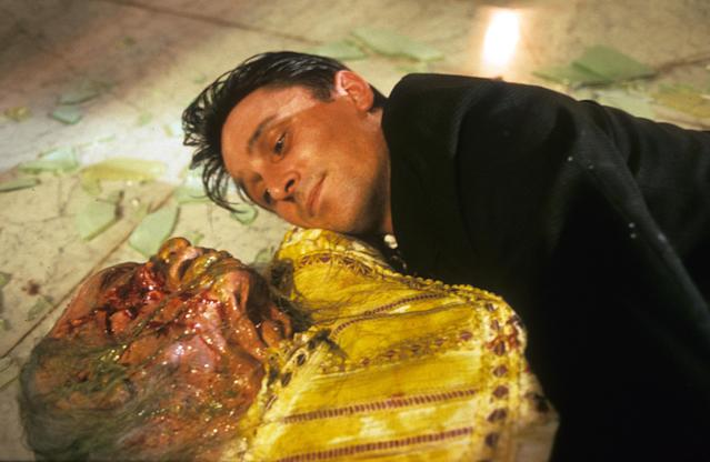 Balme snuggles a corpse in <em>Braindead,</em> aka  <em>Dead Alive</em> (Photo: Mary Evans/New Zealand Film Commission/Wingnut Films/Ronald Grant/Everett Collection)