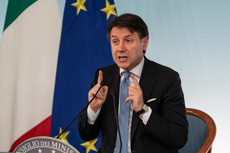 Il premer Giuseppe Conte (Photo by Cosimo Martemucci/SOPA Images/LightRocket via Getty Images)