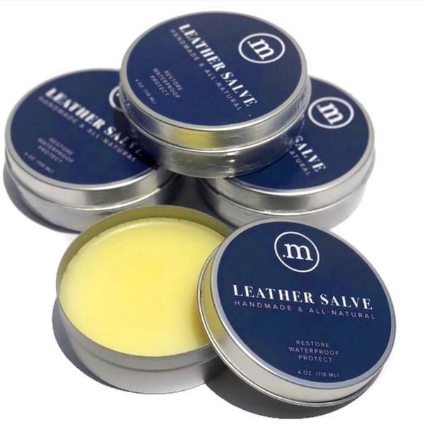 """<p><strong>Made Leather Co.</strong></p><p>madeleathercompany.com</p><p><strong>$21.00</strong></p><p><a href=""""https://madeleathercompany.com/collections/accesories/products/8-oz-leather-salve?variant=32498314281045"""" rel=""""nofollow noopener"""" target=""""_blank"""" data-ylk=""""slk:Shop Now"""" class=""""link rapid-noclick-resp"""">Shop Now</a></p><p>Your leather won't go through any wear and tear with Made Leather Co.'s handmade Leather Salve lathered on. The semi-thick wax conditioner curated from clean ingredients will provide extra, durable protection. You can easily apply it with your hand or a cloth.</p>"""