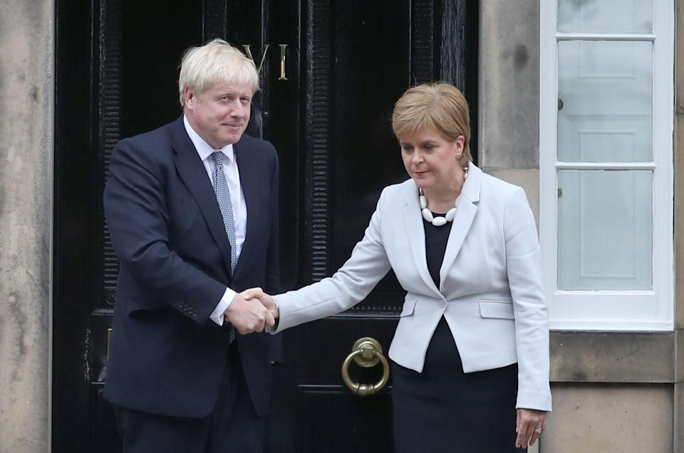 Boris Johnson has so far rejected calls from Scottish First Minister Nicola Sturgeon for a second referendum (Jane Barlow/PA)