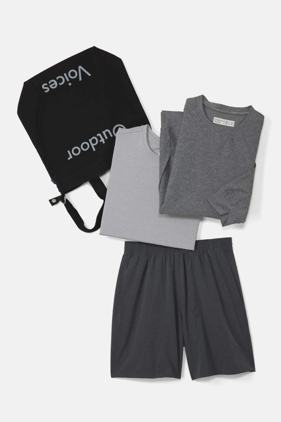 "<p>This handsome activewear kit contains all the elements a man needs to feel comfortable — and look stylish — at yoga: a tee, shorts, crewneck, and a bag to hold them all together.<br></p><p>$200 at <a href=""https://www.outdoorvoices.com/products/man-3-piece-kit?variant=8612914885"" rel=""nofollow noopener"" target=""_blank"" data-ylk=""slk:Outdoor Voices"" class=""link rapid-noclick-resp"">Outdoor Voices</a></p>"