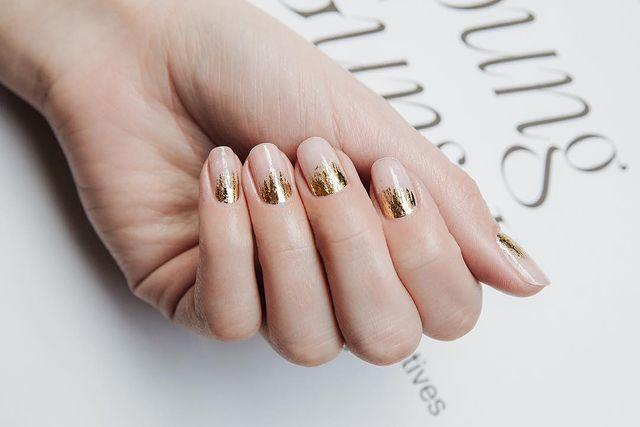 """<p>Fancy up those cuticles with a touch of shimmer polish. </p><p><a href=""""https://www.instagram.com/p/BmBqNHrAaio/"""" rel=""""nofollow noopener"""" target=""""_blank"""" data-ylk=""""slk:See the original post on Instagram"""" class=""""link rapid-noclick-resp"""">See the original post on Instagram</a></p>"""
