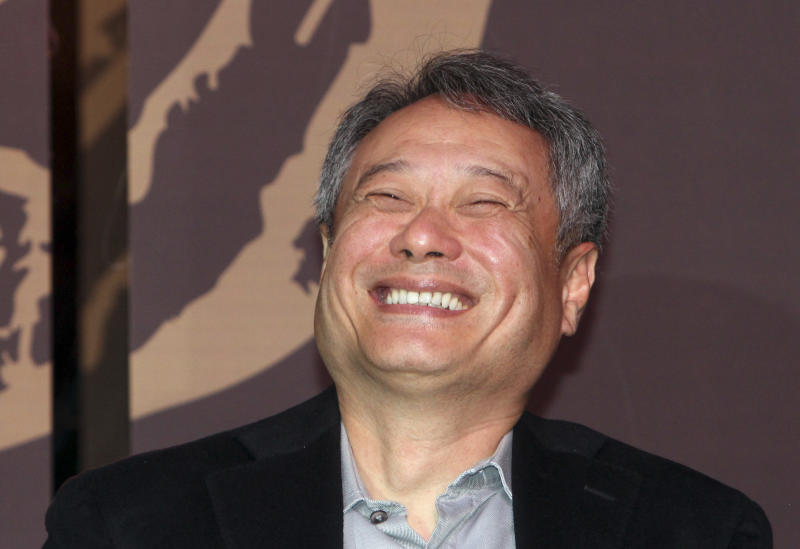 Taiwanese director Ang Lee smiles during a media event for the 50th Golden Horse Awards in Taipei, Taiwan, Tuesday, Nov. 12, 2013. Academy Award-winning director Ang Lee believes the modest clout of the premier awards for Chinese-language films will grow as the market for such films increases. (AP Photo/Chiang Ying-ying)