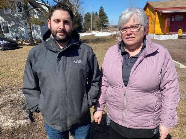Linda Gallant, secretary-treasurer of Timberlea Developments Inc., and her son Jonathan Gallant, a shareholder in the company.